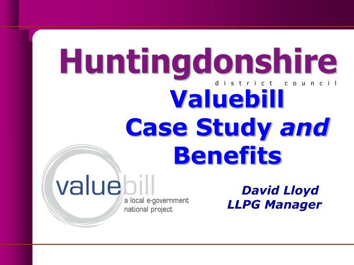 valuebill case study and benefits david lloyd llpg manager n.