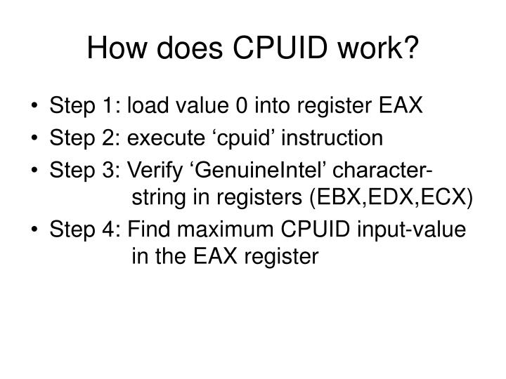How does CPUID work?