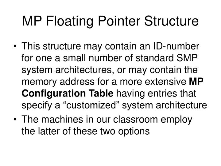 MP Floating Pointer Structure