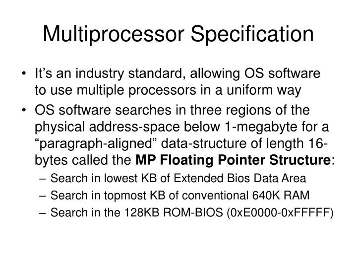 Multiprocessor Specification