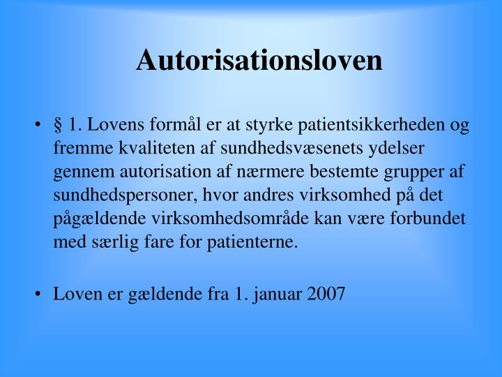 Autorisationsloven