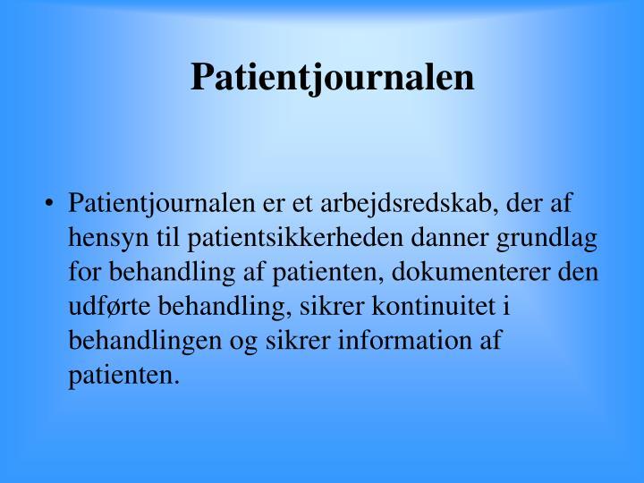 Patientjournalen