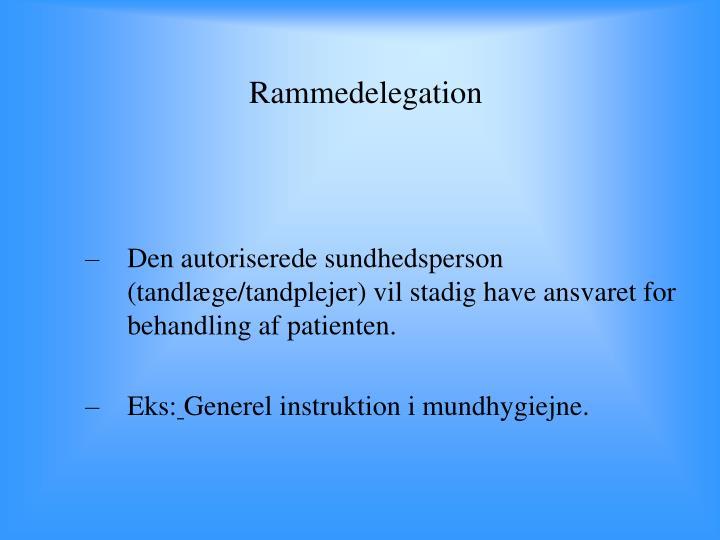 Rammedelegation