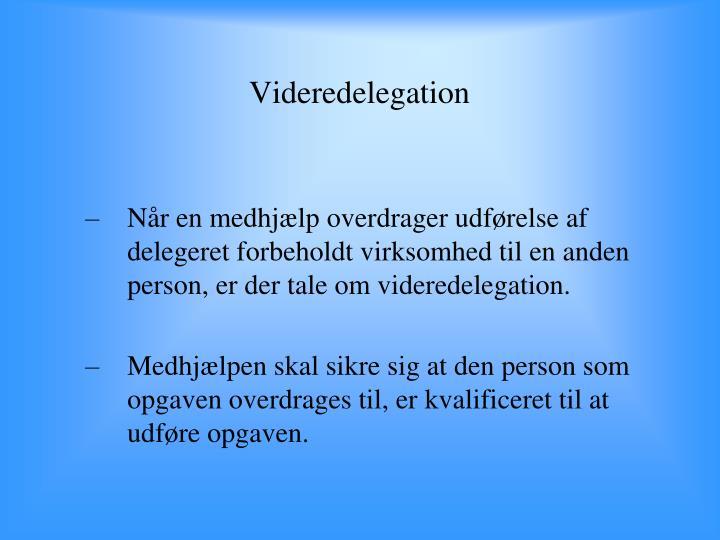 Videredelegation