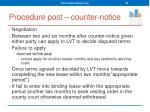 procedure post counter notice