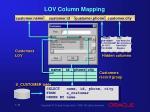 lov column mapping