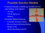 possible solution models