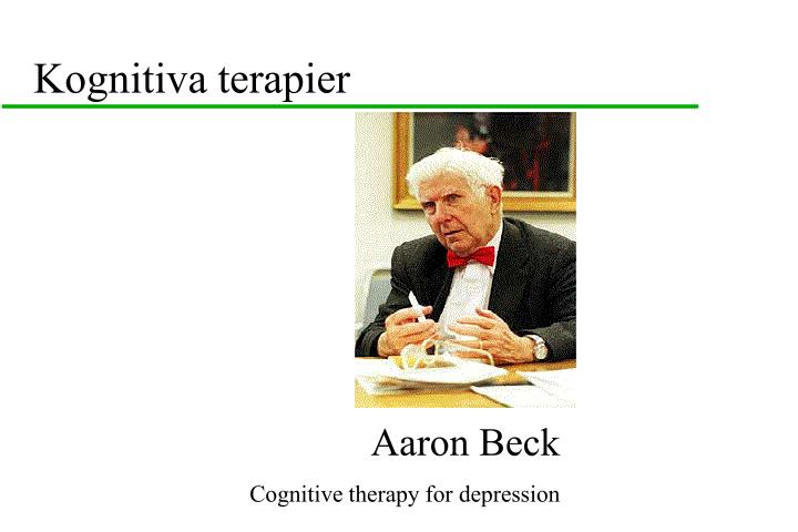 Kognitiva terapier