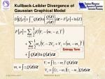 kullback leibler divergence of gaussian graphical model