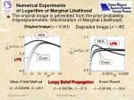 numerical experiments of logarithm of marginal likelihood