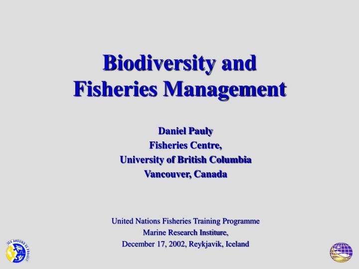 Biodiversity and fisheries management
