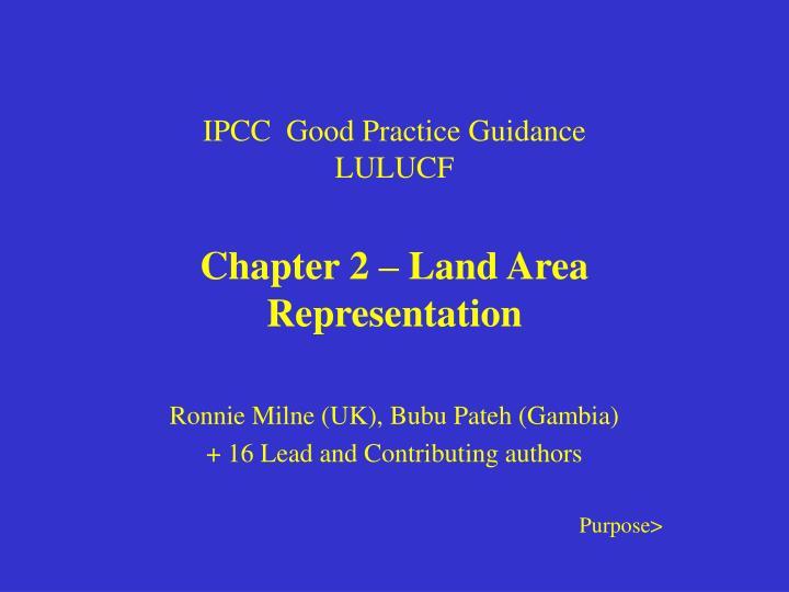 Ipcc good practice guidance lulucf