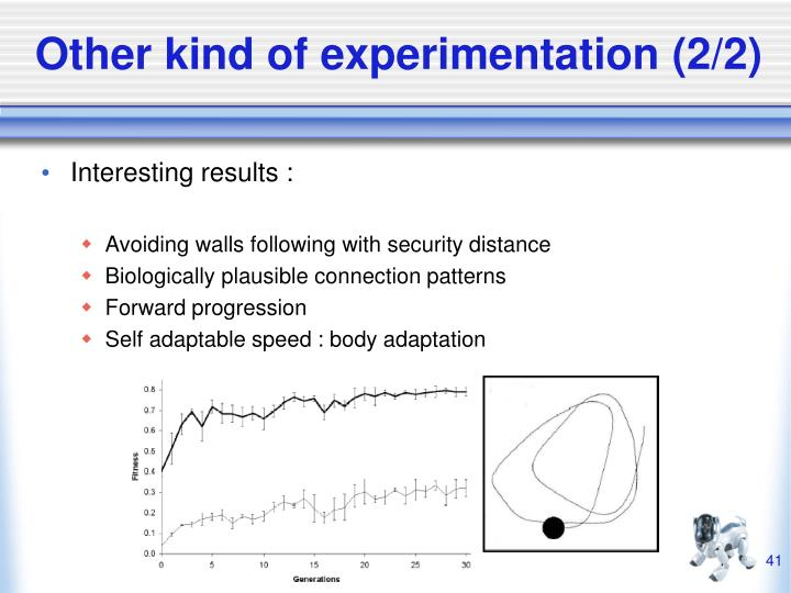 Other kind of experimentation (2/2)