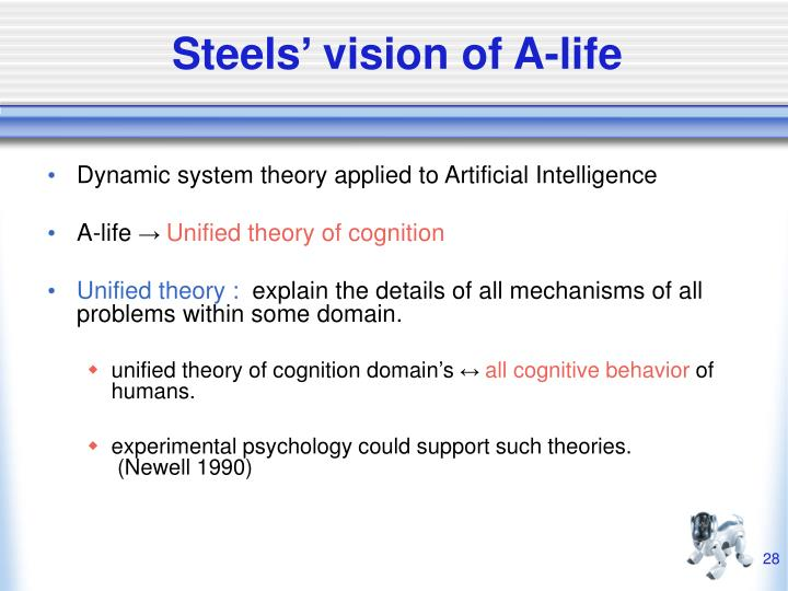 Steels' vision of A-life