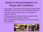 section 8 accommodations for people with disabilities1