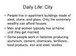 daily life city