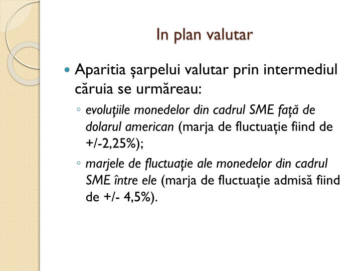In plan valutar