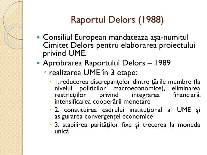 Raportul Delors (1988)