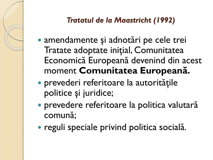 Tratatul de la Maastricht (1992)