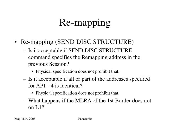 Re-mapping