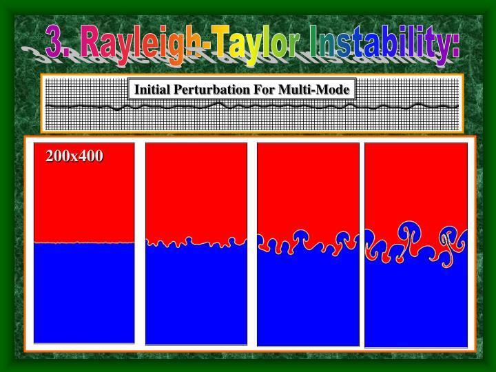Initial Perturbation For Multi-Mode