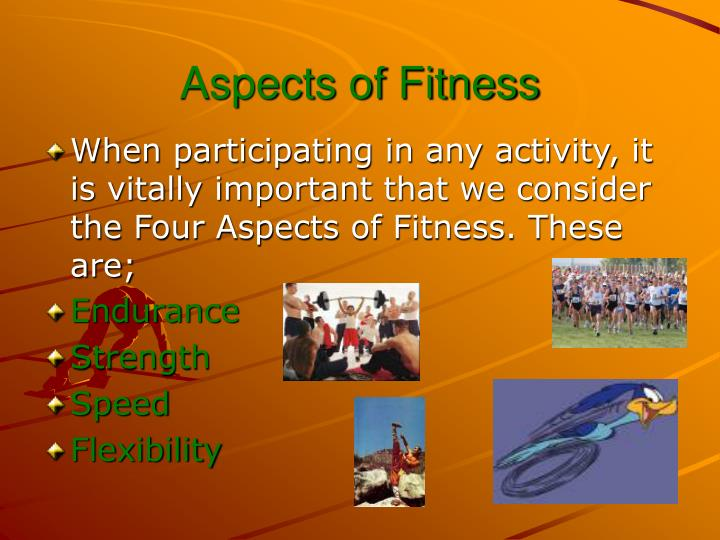 Aspects of fitness1