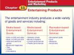entertaining products