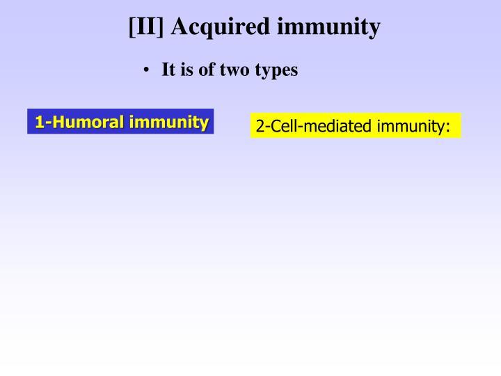 [II] Acquired immunity