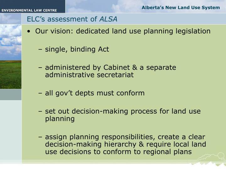Alberta's New Land Use System