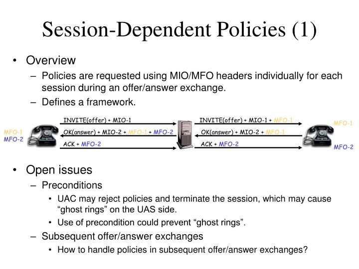 Session-Dependent Policies (1)