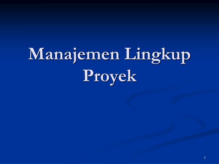 manajemen lingkup proyek n.