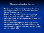 manajemen lingkup proyek1