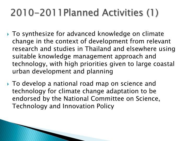 2010-2011Planned Activities (1)