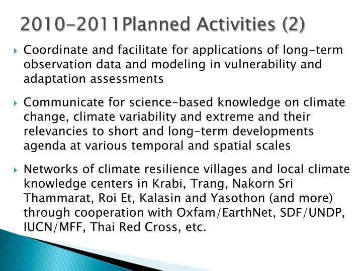 2010-2011Planned Activities (2)