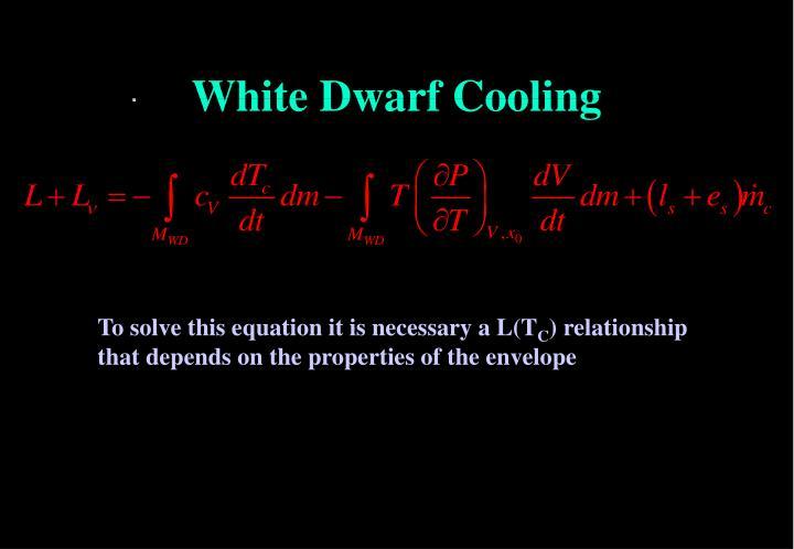 White Dwarf Cooling