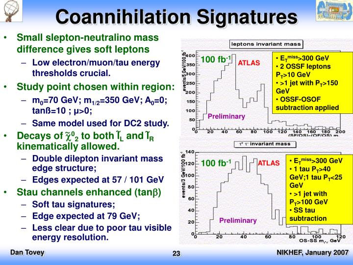 Coannihilation Signatures