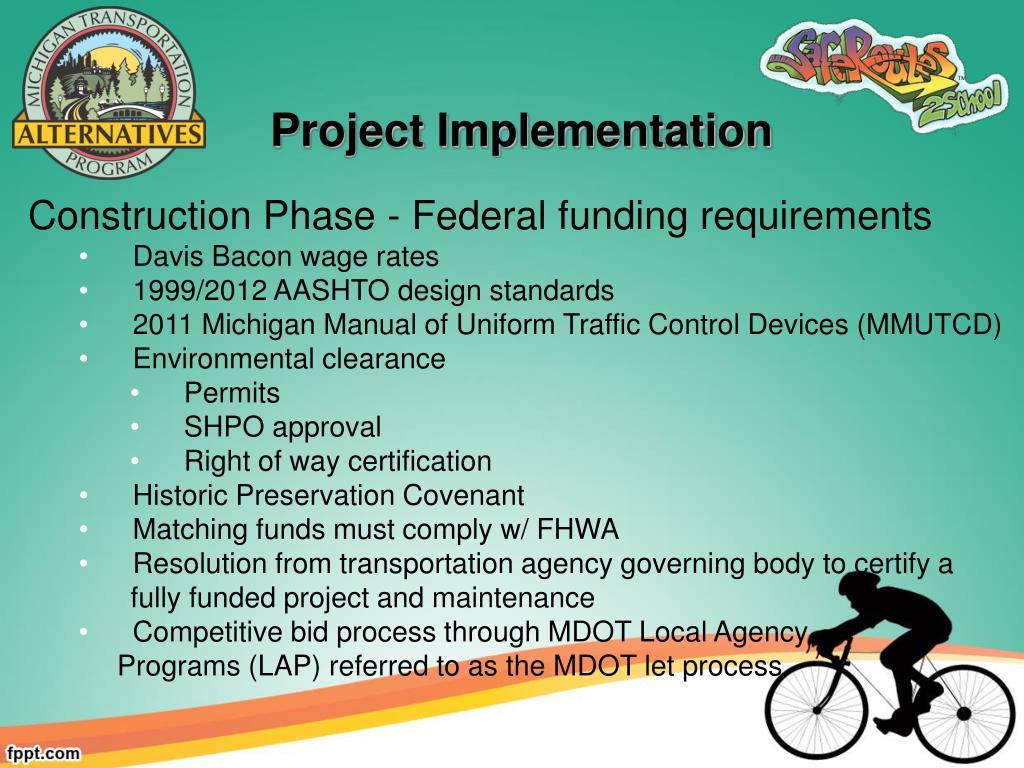 PPT - Michigan Transportation Alternatives Program PowerPoint