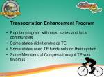 transportation enhancement program