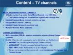 content tv channels