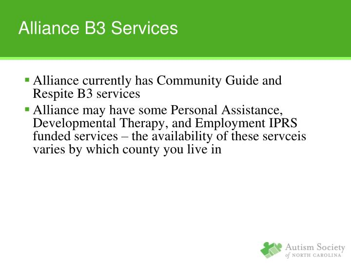 Alliance B3 Services