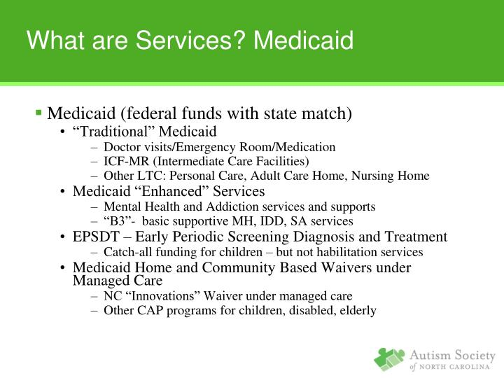 Medicaid (federal funds with state match)