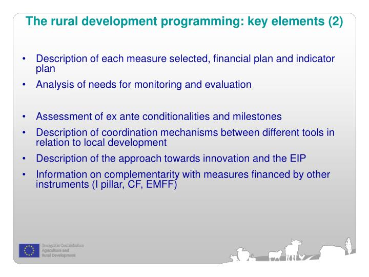 The rural development programming: key elements (2)