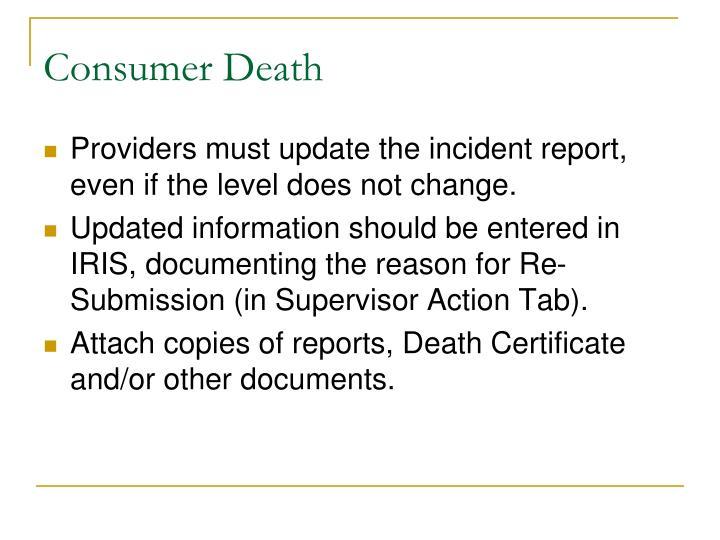 Consumer Death
