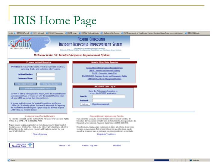 IRIS Home Page