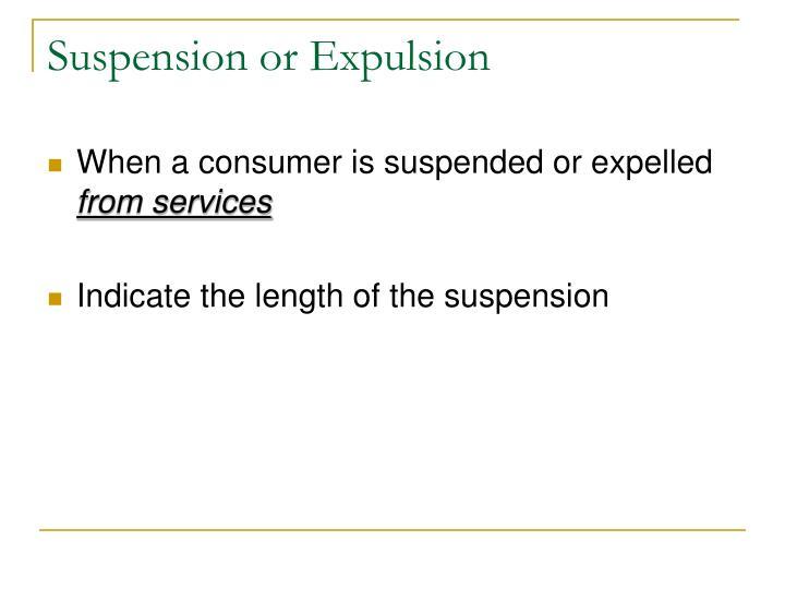 Suspension or Expulsion