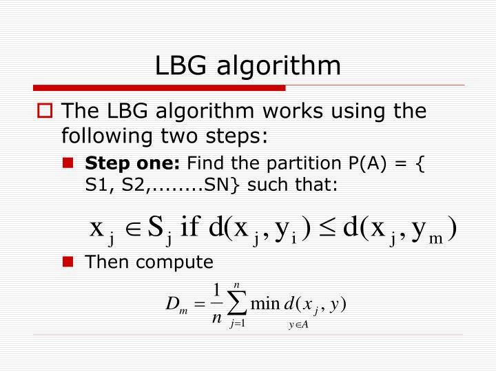 LBG algorithm