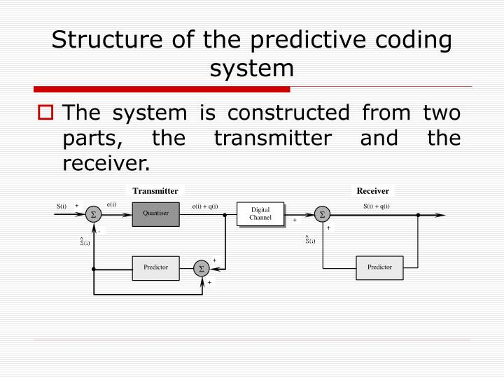 Structure of the predictive coding system