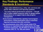 key findings performance standards incentives1