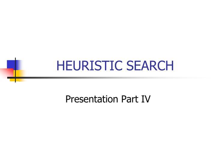heuristic search n.