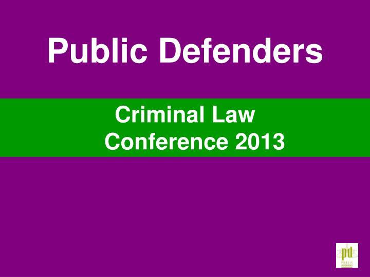 Public Defenders